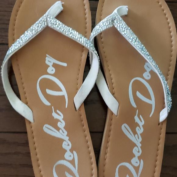 Shoes - Rhinestone Rocketdog Flip Flops